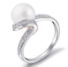 925 Silver 9MM Perfectly Round Bead AAA Fresh Water Pearl Ring (JP-YB-JZ0154)  http://www.goodgoodschina.com/pearl-rings-jp-yb-jz0154