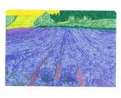 lavender field, 15x20cm, 2017 | Anna Marczak