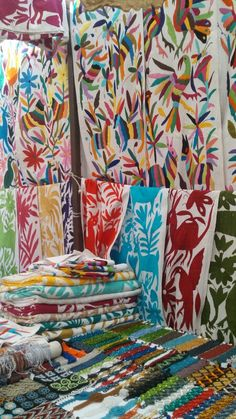 Mexican decor: the wonderful tenangos from Mexico. Handmade, hand stitched. Vibrant.