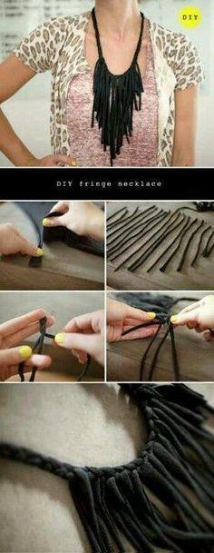 DIY Fringe neckace