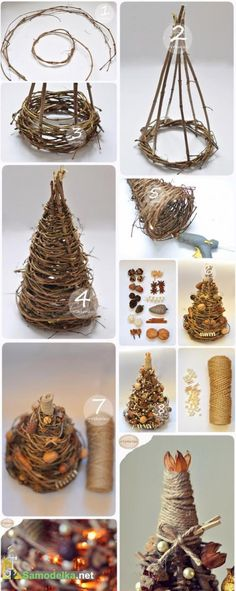 We& show you how to make a simple but beautiful braided Christmas tree decor . , We will show you how to make a simple but beautiful braided Christmas tree decoration! Christmas Tree On Table, Noel Christmas, Rustic Christmas, Christmas Tree Decorations, Christmas Ornaments, Natural Christmas Tree, Beautiful Christmas, Christmas Projects, Holiday Crafts