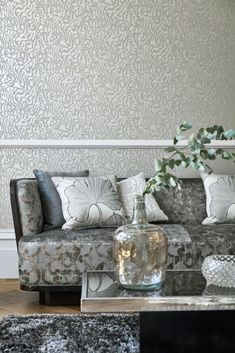 Wallpaper design by Harlequin featuring an abstract animal print design. Hallway Wallpaper, Neutral Wallpaper, Dining Room Wallpaper, Bathroom Wallpaper, Geometric Wallpaper, Pattern Wallpaper, Wallpaper Ideas, Animal Print Wallpaper, Abstract Animals