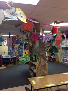 Alice in wonderland theme classroom