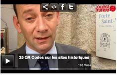 Vannes. Vingt-cinq QR Codes sur les bâtiments historiques de la ville #QRcode #QR