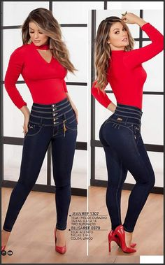 Hot Outfits, Fashion Outfits, Womens Fashion, Sexy Jeans, Skinny Jeans, Pernas Sexy, Jeans Material, Mode Inspiration, Girls Jeans