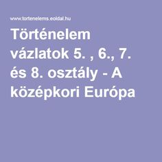 Történelem vázlatok 5. , 6., 7. és 8. osztály - A középkori Európa Homeschool, Classroom, Album, Teaching, Marketing, Education, History, Books, Biblia