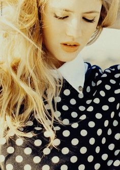 Polkadots and collars: 2 of my fav things! I'd wear this with denim cut offs, boots and a wide-brim hat for spring.