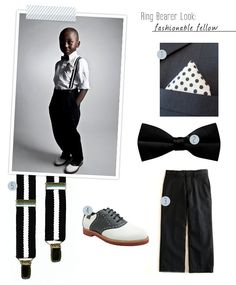 The inspiration for the boys' outfit, compliments of http://greenweddingshoes.com/styling-the-little-ones-ring-bearer-fashion/