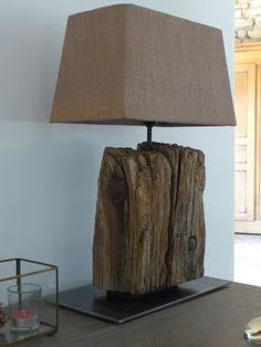 Lamp old wood unique model. Home Decor Furniture, Diy Home Decor, Driftwood Lamp, Standard Lamps, Rustic Lamps, Room Lamp, Reclaimed Wood Furniture, Old Wood, Wood Design