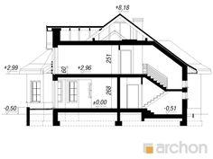 Projekt domu Dom pod juką 4 - ARCHON+ Modern Bungalow House, Good House, Minimalist Home, House Plans, Floor Plans, Houses, How To Plan, Model, Dreams