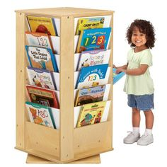 Perfect for preschool classrooms, libraries, or family dens, the Jonti-Craft Revolving Literacy Tower Bookcase - Small is truly the happy. Waiting Room Design, Family Den, Just Kids, Thing 1, Craft Corner, Preschool Classroom, Classroom Decor, Toy Storage, Kids Furniture