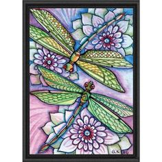 Heaven and Earth Designs Dragonflies Counted Cross-Stitch Chart