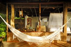 sleeping in a hammock in Costa Rica