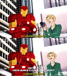 Love this<-- it's even better that Hawkeye was the on e screaming