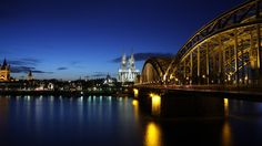 Cologne Cathedral Hohenzollern Bridge Germany wallpaper