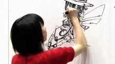 Japanese Anime Artist Designing at  Design Festa 34 in Tokyo Japan 1788