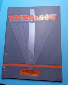 Four Nicholson File Co. Trade Catalogs
