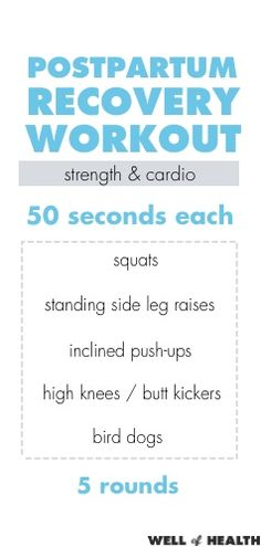 Postpartum Recovery Workout | Well of Health