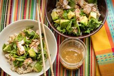 Bonnie S. Benwick - Asian Salmon Rice Bowl is simple, soft food but feels substantial. And is foolproof Home Recipes, Cooking Recipes, Healthy Recipes, Healthy Food, Salmon Recipes, Fish Recipes, Watercress Recipes, Asian Salmon, Lime Vinaigrette