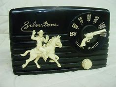Vintage Silvertone radio with cowboy and gun, vintage cowboy    ...Please save this pin.  Because for vintage collectibles - Click on the following link!.. http://www.ebay.com/usr/prestige_online