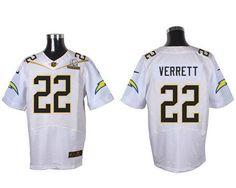 Nike Chargers #22 Jason Verrett White 2016 Pro Bowl Men's Stitched NFL Elite Jersey