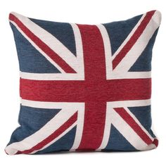 Commonwealth Pillow in Red & Blue