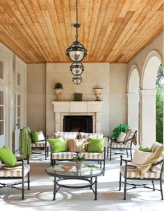 L & M Screened porch ceiling? traditional porch by Symmetry Architects Porch Ceiling, Plank Ceiling, Wood Ceilings, Ceiling Fans, Patio Ceiling Ideas, Timber Ceiling, Ceiling Lights, Gazebo, Pergola