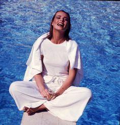 Margaux Hemingway photographed by Francesco Scavullo, Vogue, April 1975.