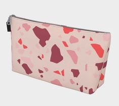 1021fc3ca948 Pink Terrazzo Makeup Bag Cosmetic Toiletry Travel Pouch, cool mom mothers  day gift for best friend s