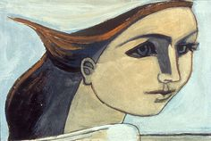 Self Portrait (Figure in the Wind), 1944. By Françoise Gilot (France, born 1921). Oil on canvas.
