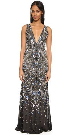 alice + olivia Marnee Embellished Gown | SHOPBOP