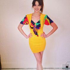80s lycra dress £25