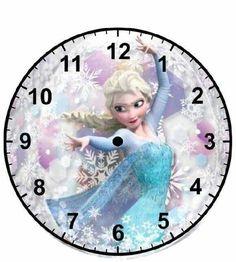 Frozen Diy Dollhouse, Dollhouse Miniatures, Frozen Activities, Clock Face Printable, Disney Clock, Paper Clock, American Flag Art, Decopage, Disney Frozen Party