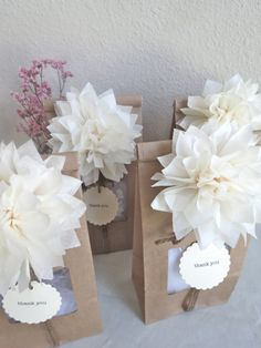 Pom Pom Party Favor Kit - Personalized - Wedding Favors - Party Favors - Bridal Shower - Wedding Favors - Vintage - Woodland - Rustic. via Etsy.