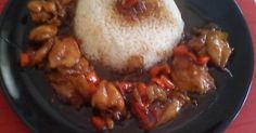 Εξαιρετική συνταγή για Γλυκόξινο κοτόπουλο με πιπεριές. Η δική μου εκδοχή για γλυκοξινο κοτόπουλο.
