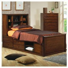 bed frame with storage - Google Search
