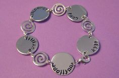 Family Handstamped Bracelet Up to 5 names by thirtyoneshekels, $36.00    Awesome for #mom for #MothersDay