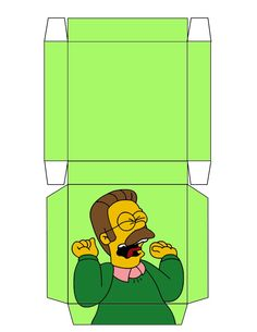 """The Simpsons """"Flanders"""" Box .... free to use and free to share for personal use. <3"""