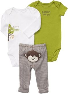 16379c970dccf Carter s Boys 3 Piece Turn Me Around Set with Long Sleeve Bodysuit