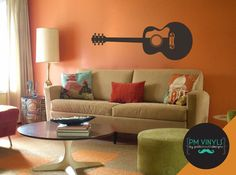 Gibson Acoustic Guitar Vinyl Wall Decal - MUS002
