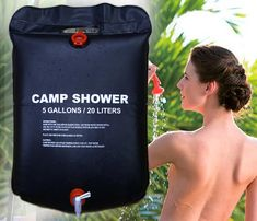 20L / 5 Gallons Solar Energy Heated Camp Shower Bag #CampingShower