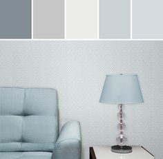 AUSTEN LIGHT BLUE SMALL GEO Designed By Brewster Home Fashions via Stylyze