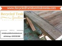 Reclaimed Teak Indonesian Furniture | RecycledFurnitureIndonesia.com - YouTube Teak Table, Reclaimed Wood Furniture, Home Accessories, Entryway Tables, Recycling, Youtube, Home Decor, Decoration Home, Room Decor