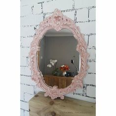 Check out this item in my Etsy shop https://www.etsy.com/listing/521129721/oval-ornate-mirror-shabby-chic-mirror