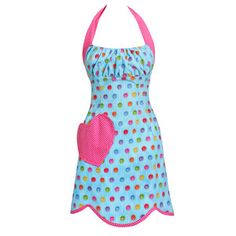 Lollipop Aqua Apron, 32€, now featured on Fab.