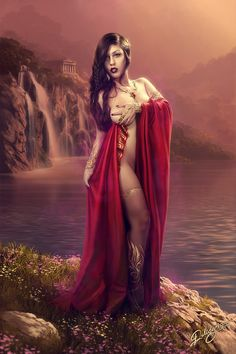 Aphrodite by Deligaris.deviantart.com ~ Aphrodite is the Greek goddess of love, beauty, pleasure, and procreation.