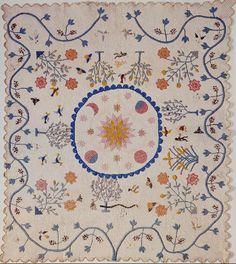 Garden of Eden quilt, 1850 - 1900. Made by Sylvia S. Queen. Smithsonian Institution.