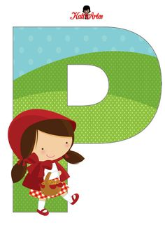 free-printable-Little-Red-Riding-Hood-alphabet-034.PNG 793×1.096 píxeles