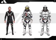 Concept de tenue de spationaute.