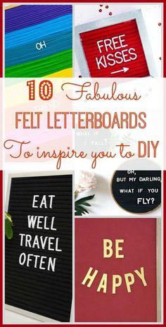 tons DIY Letter boar